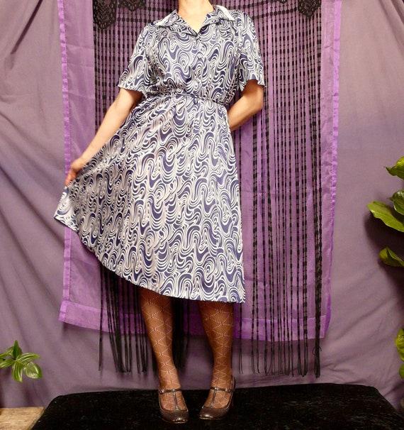 1970's Norman Hartnell Designer Day Dress - image 2