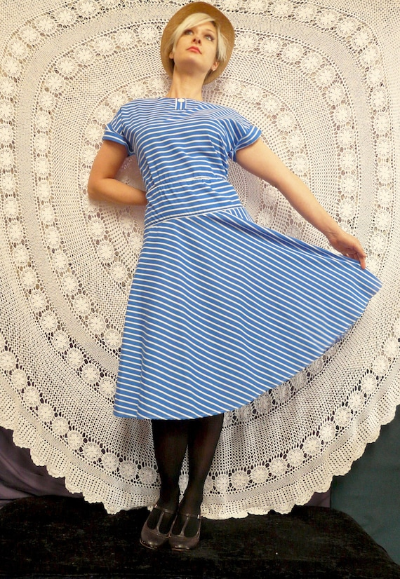 1980's Stripe Frock - Garment Co. Of Australia - S