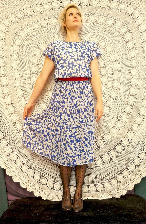 1980's Day Dress - Nana / City / Work Frock - Cit… - image 1