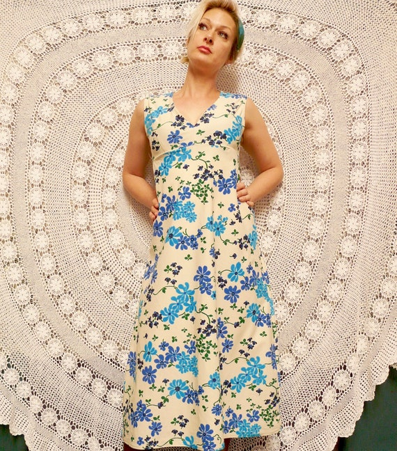1970's Bohemian Folk Maxi - Dress / Handmade
