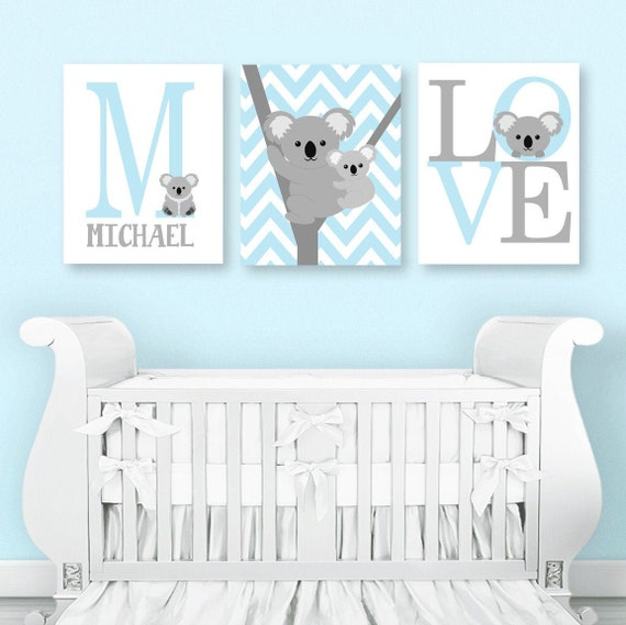 owl sheep elephant 3 prints // posters for baby girl nursery pink and grey