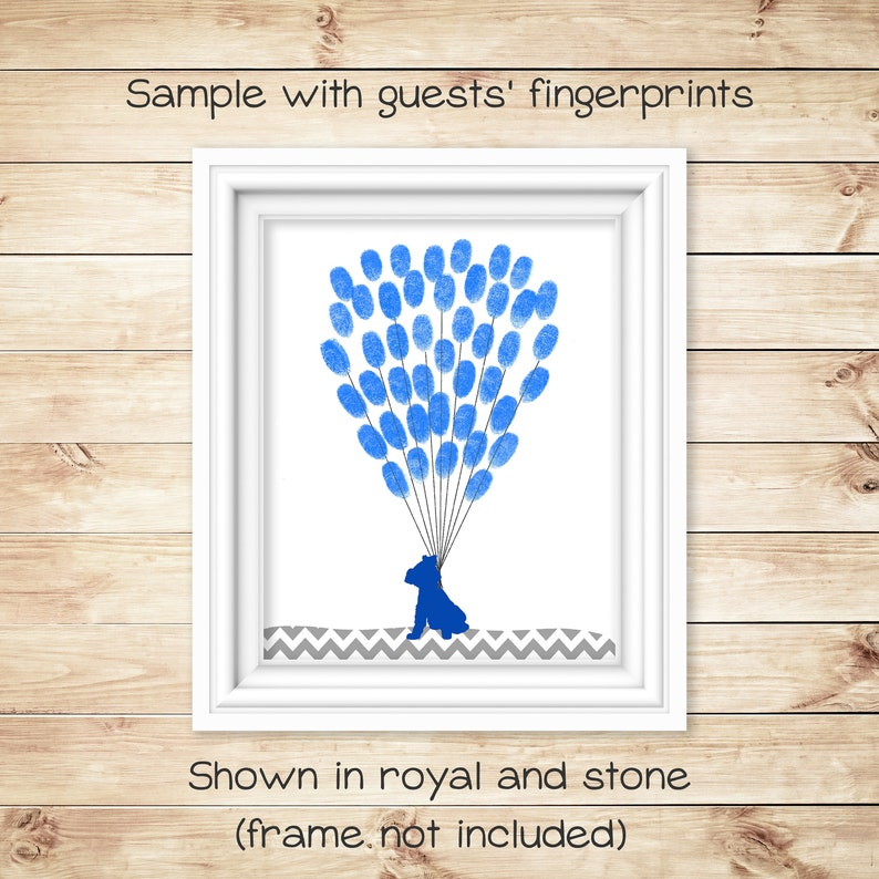 Baby Shower Accessory Kids Birthday Party Teacher Gift Fingerprints Puppy Baby Shower Alternative Guest Book Thumbprint Guest Book