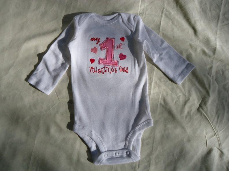 new baby. Custom baby/'s name 1st Valentine/'s day baby grow bodysuit vest