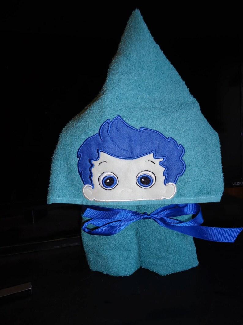 Blue fish,Childrens Towel Personalized Gifts Blue Fish Boy Hooded Bath Towel Seafoam Green Towel