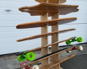 OBERAND Seven Spot Longboard Floor Rack
