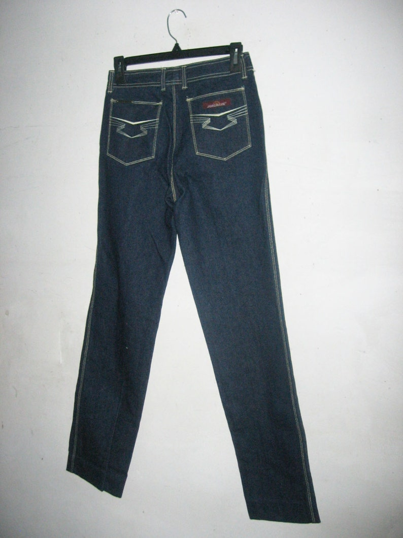 Vintage Jordache J-19 Dark Wash Indigo High Waist Denim Contrast Stitch 100/% Cotton Zipper Pockets Grunge Jeans Pants Size 29 Length L