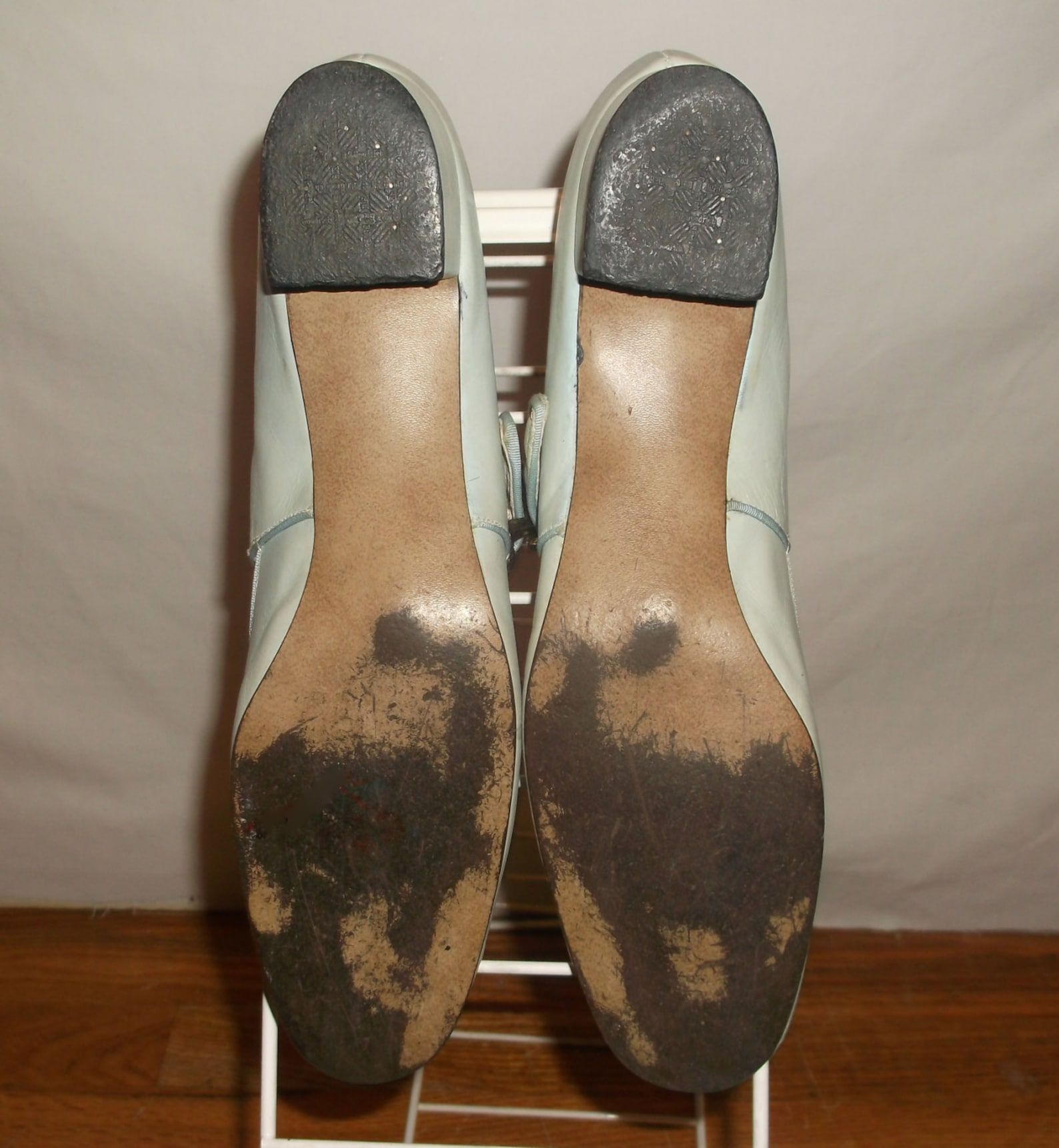 vintage sbicca leather big buckled mary jane oxford chunky heel ballet tap dance multifunctional shoes size 9n