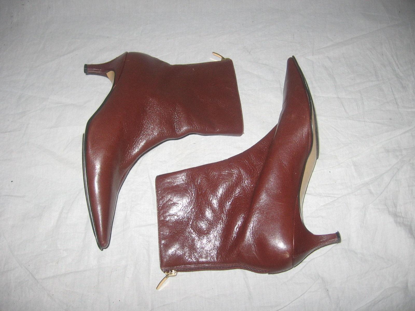 f890fae6e4d Vintage Anne Klein Loin Face Brown Back Zipper Above Ankle