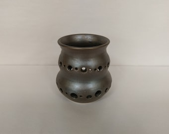 CANDLE HOLDER - Saturation Gold - Hand Made Ceramic #38