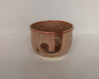 YARN BOWL - Albany Slip Brown - Hand Made Ceramic #738