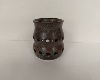 CANDLE HOLDER - Temmoku - Hand Made Ceramic #33