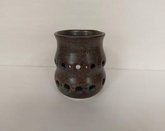 CANDLE HOLDER - Temmoku - Hand Made Ceramic #33