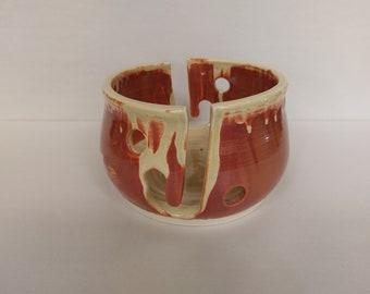 YARN BOWL - Eggshell Double Standard Cut - Hand Made Ceramic #774