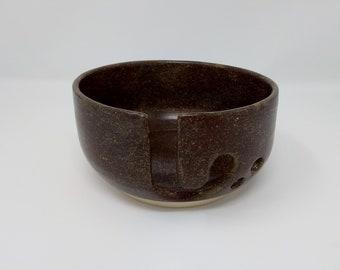 YARN BOWL - Temmoku Revers J Cut - Hand Made Ceramic #850