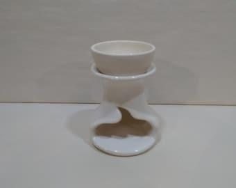 WAX MELT WARMER - White - Hand Made Ceramic #112