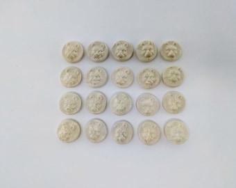 20 pc. Life Counter Set - Stone Wolves - Handmade Ceramic