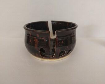 YARN BOWL - Ultramarine Jewel Double J Cut - Hand Made Ceramic #786