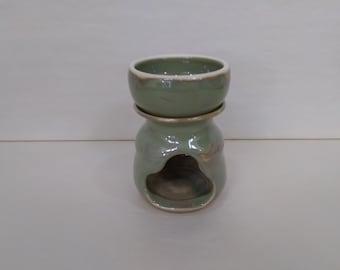 WAX MELT WARMER - Green Celedon - Hand Made Ceramic #100
