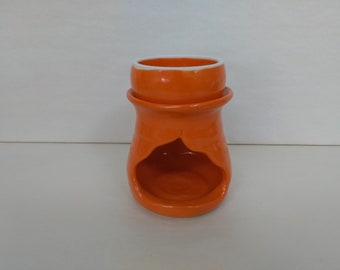 WAX MELT WARMER - Mandarin Orange - Hand Made Ceramic #103