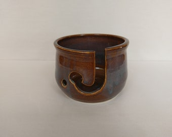 YARN BOWL - Iron Lustre Reverse Cut - Hand Made Ceramic #800
