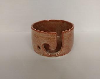 YARN BOWL - Albany Slip Brown - Hand Made Ceramic #737