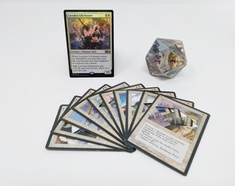 Mtg LIFE COUNTER - White Ice Age - D20 20 Sided Die Handmade From CCG Cards #77 - Plus Free Promo Card!