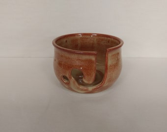 YARN BOWL - Albany Slip Brown - Hand Made Wheel Thrown Ceramic #697