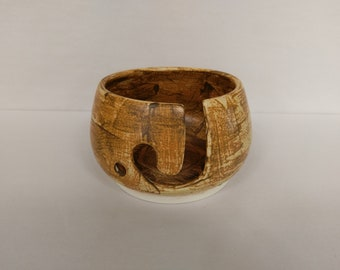 YARN BOWL - Salt Buff J Cut - Hand Made Ceramic #810
