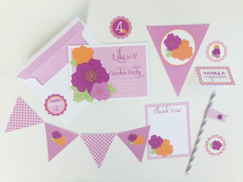 Flower garden birthday shower printable package etsy zoom izmirmasajfo
