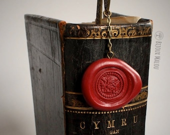 Welsh Dragon Bookmark Celtic Y Ddraig Goch Gift Red Dragon Gift Bookmark For Him Men Women For Her Cymru  St David's Day Historia Brittonum
