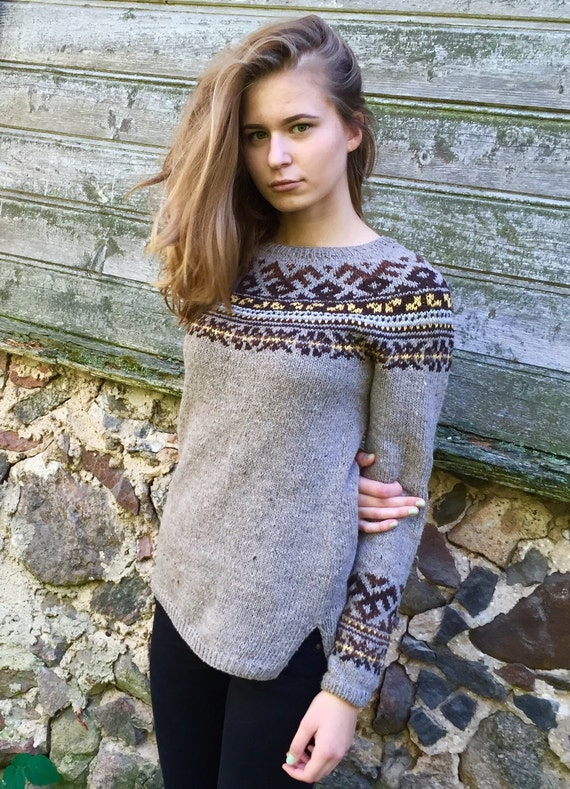 6f6499358 Icelandic Taupe sweater Women s sweater Made to order