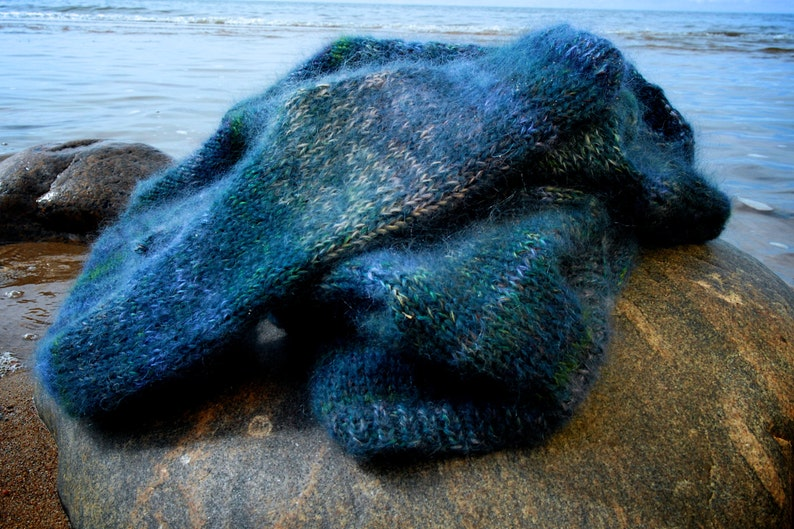 Mohair Blue Women/'s sweater Made to order