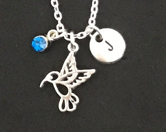 Personalized Hummingbird Necklace