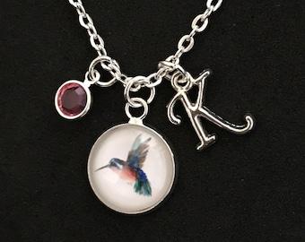 Personalized Hummingbird Necklace Hummingbird Jewelry