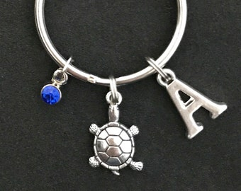 Personalized Turtle Keychain Turtle Gift