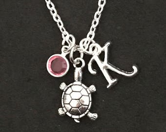 Personalized Turtle Necklace Turtle Jewelry