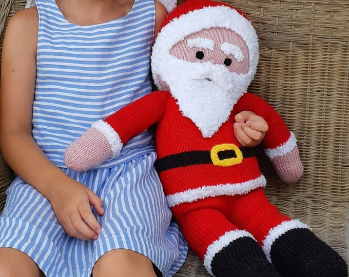 Father Christmas knitting pattern, Santa knitting pattern, Handmade Father Christmas, Children's Christmas Knitting, Digital download, PDF