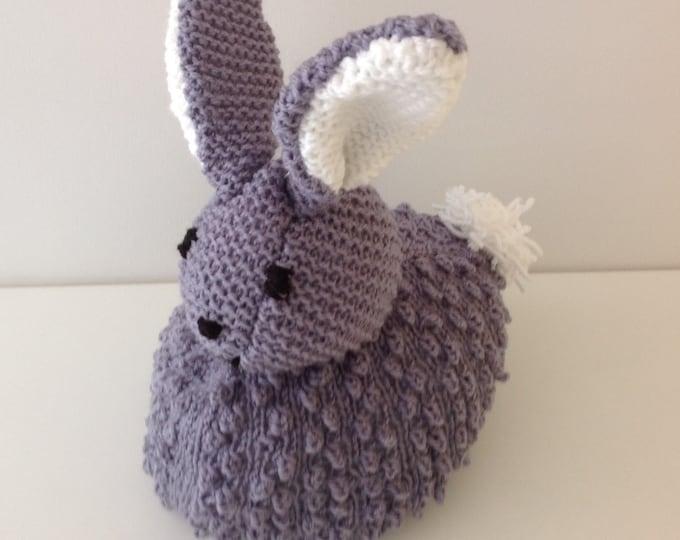 Peter Rabbit Doorstop Knitting Pattern, Easter Knitting Pattern, Handmade Bunny Pattern, Knitted Gift, Download pdf