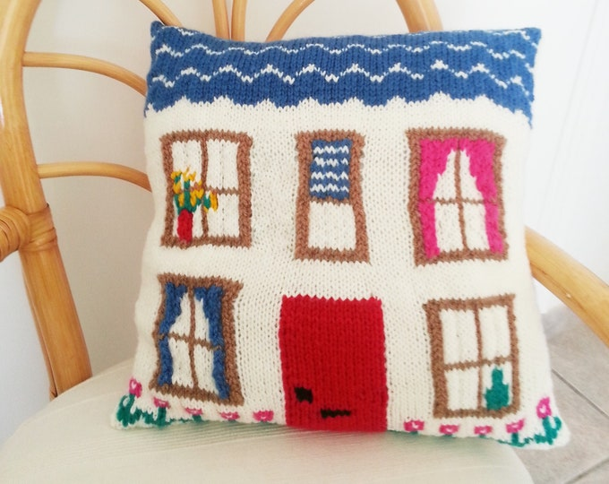 Pillow Knitting Pattern, Cushion knitting pattern,  House Knitting Pattern, pdf download knitting pattern, Home  accessory knitting pattern
