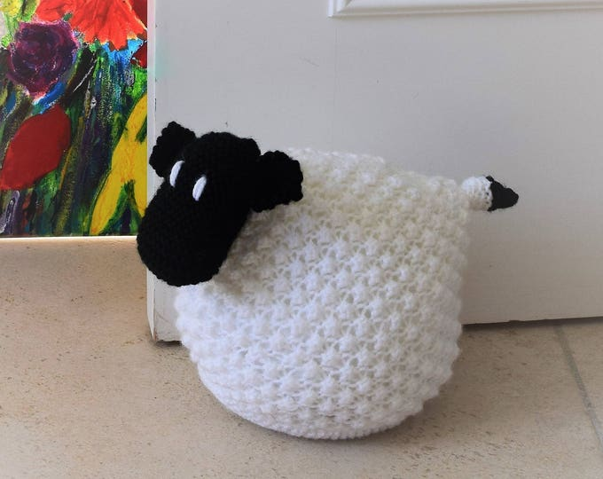 Doorstop Knitting Pattern, Sheep Knitting Pattern,  Sheep Doorstop, Door stop Knitting Pattern, Handmade Sheep Pattern, Sheep Ornament