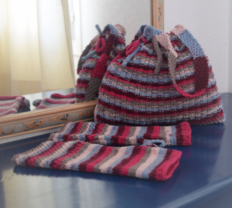 Knitting Pattern For A Handbag Self Striping Double Knitting Yarn