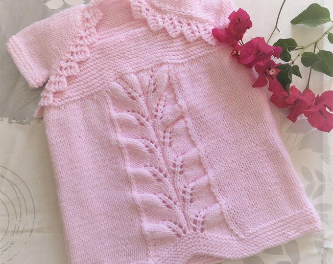 Knitting Pattern - Baby Dress and Shrug, Baby Shower Gift, Knitting patterns for Baby Girls and Toddlers, Double Knitting Baby Outfit