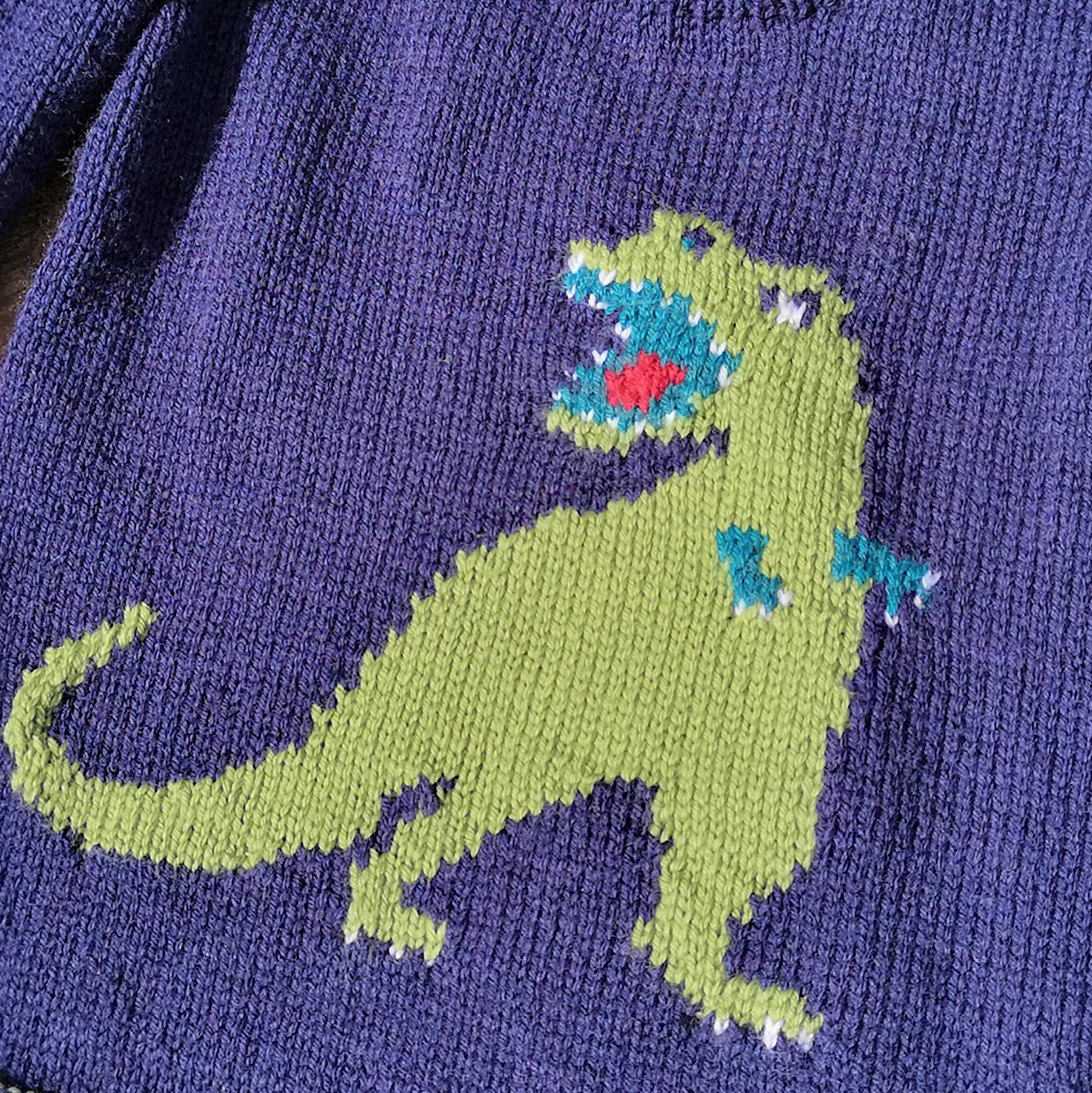 Knitting Pattern - Dinosaur Child's Sweater - T-Rex ...