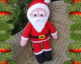 Knitting Pattern for Father Christmas, Santa knitting pattern, Handmade Father Christmas, Children's Christmas Knitting, Digital download