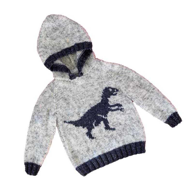 a8956b14b7eac Knitting pattern for boys and girls dinosaur hoodie Pdf
