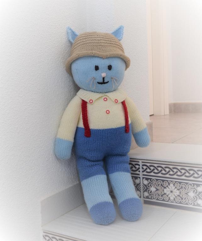 Boy Cat Knitting Pattern Stuffed Animal Toy Handmade Soft Etsy