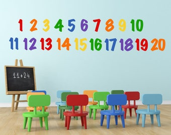 Educational Wall Decals   Number Wall Decals   Numbers Wall Decoration   ABC  123 Decals   Kids Room Decals