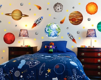 Outer Space Room Decor, Outer Space Room, Outer Space Wall Decal, Space  Kids Room, Space Nursery