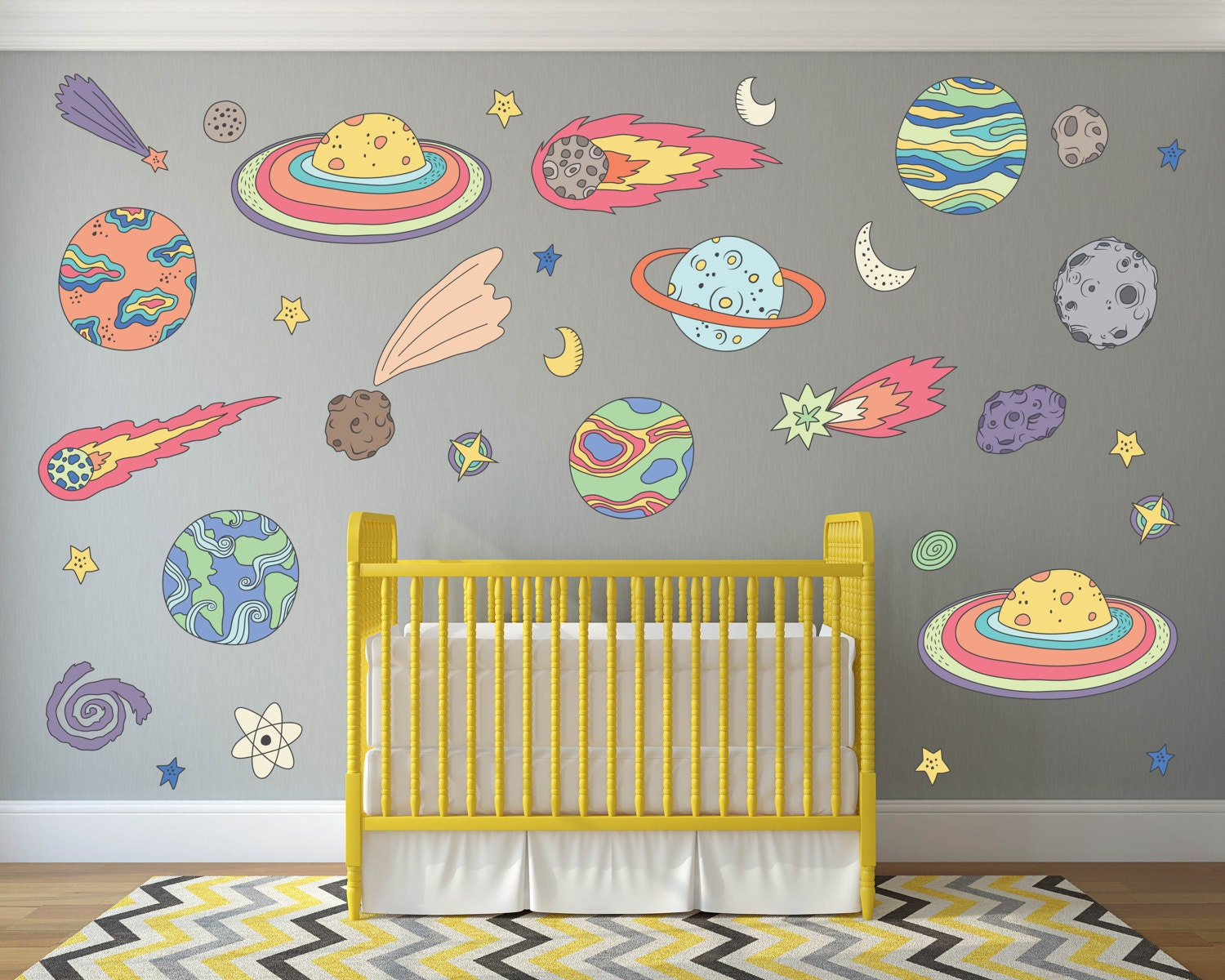 Outer Space Kids Room Decor Outer Space Wall Decals Space | Etsy