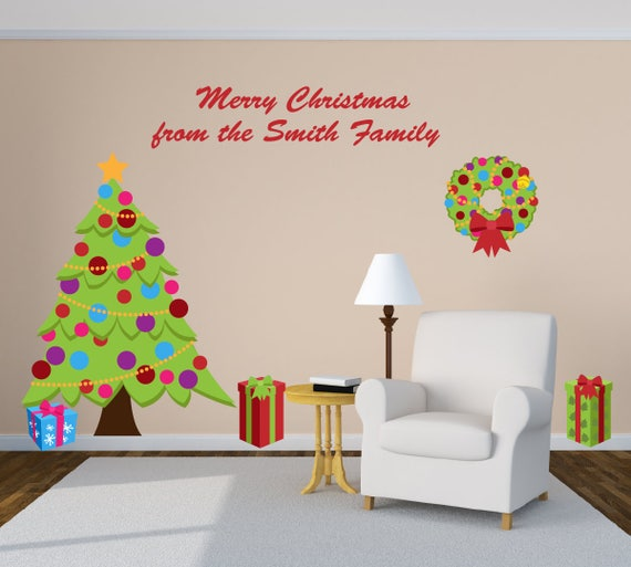 Christmas Party Decorations.Christmas Party Decorations Christmas Wall Decals Christmas Decorations Reindeer Decorations Christmas Stickers Holiday Party Decor